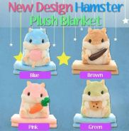 New design hamster plush blanket