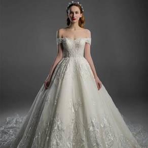 White dinner prom dress wedding bridal gown RB0102