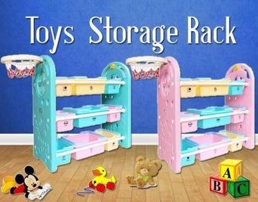 Toy storage rack
