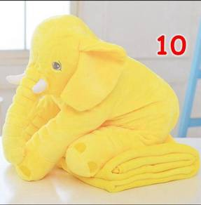 Cute Elephant Soft Plush Toy Pillow (YELLOW)