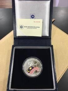 50th Anniversary Malaysia 2013 Silver 99.9 Proof C