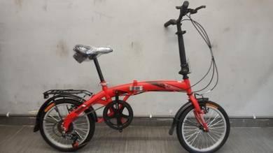 Oscar Bicycle basikal lipat vogue 16er 6sp Red