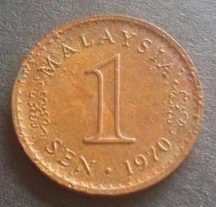 Duit Syiling 1 Sen 1970 KEYDATE (Item B)