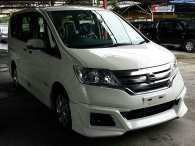 Nissan serena impul bodykit with paint spoiler