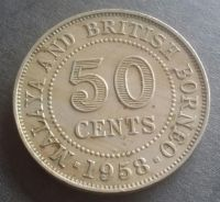 Malaya & British Borneo 50 Cents 1958H (Item B)