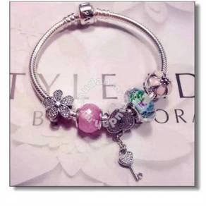 Pandora Love Lock Pink Murano set