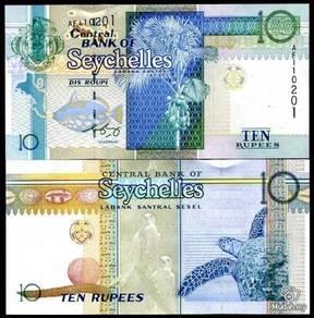 Seychelles 10 rupees 1998 new sign p 36 unc