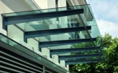 T-beam glass awning promotion