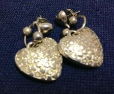 Vintage Silver Plated Earrings (1980s)