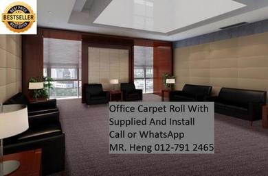 Classic Plain Design Carpet Roll with Install m1