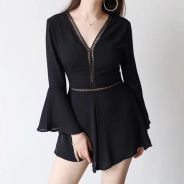 Brand New* Black V Jumpsuit