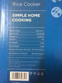 Midea Brand Rice Cooker 1.8L