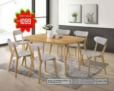 1+6 Wooden dining set (DC-M9)18/06