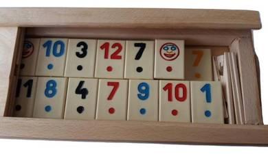 New rummikub family game beige piece
