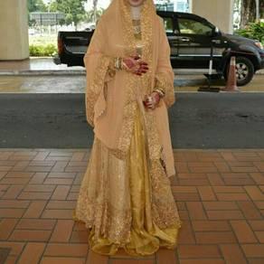 Bridal lehenga with dupatta