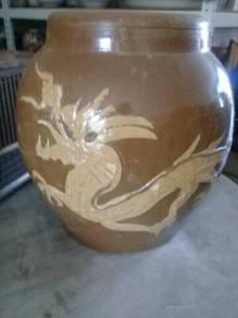 119 Tempayan naga not pasu dragon pot