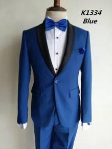 1 Button Blue Korean Men's Suits #K1334