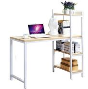Compact Study Table With 4 Tiered Shelves
