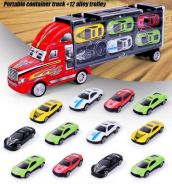 12 Alloy Cars With A Truck Kids Toys Set