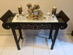 Antique wooden rosewood altar table