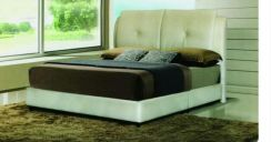 New ivory queen bed frame