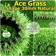 U30mm Natural Artificial Grass Rumput Tiruan 11