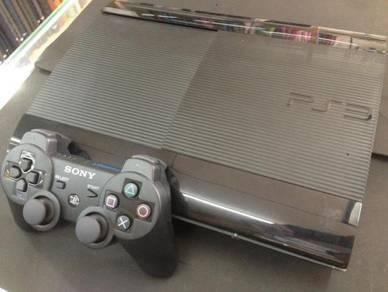 (USED) PS3 Super Slim 250GB   10 Games