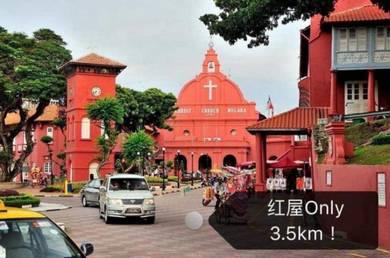Melaka Town New Condo Freehold 8 min from Jonker walk