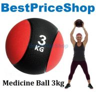 BPS 3kg Rubber Bounce Medicine Ball Muscle Gym Arm