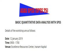 SPSS and SmartPLS 3.0 Course