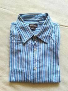 Ori MICHAEL KORS formal shirt blue stripe kueii