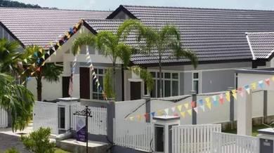 Single storey bungalow at seremban senawang