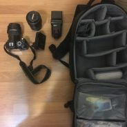 D3100 full kit with zoom lens and flash