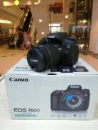 Canon eos 760d with 18-55mm is stm kit-sc 10k only