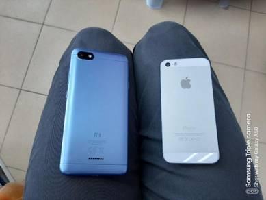 Iphone 5S Xiaomi Redmi 6A