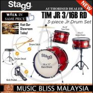 Stagg TIM JR 3/16B RD 3-piece Junior Drum Set Red