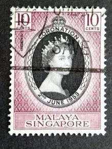 Malaya 1953 Singapore Queen Elizabeth II #2
