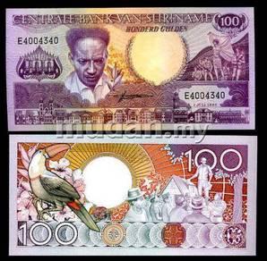 Suriname 100 gulden 1986 p 133 unc