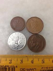 4 pcs Mix Foreign coin