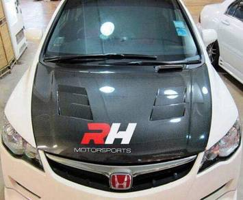 Hood Civic FD Carbon Fiber Murah All Design