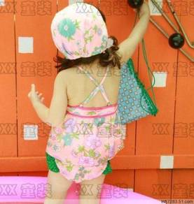 (SS18-130) New Korean Style Kids Swimsuit For Gal