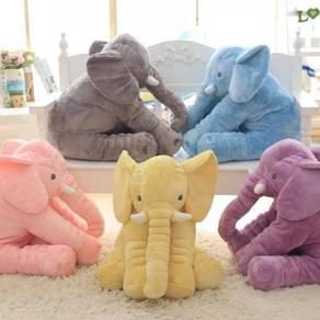 Cute Elephant Soft Plush Toy Pillow (GRAY)