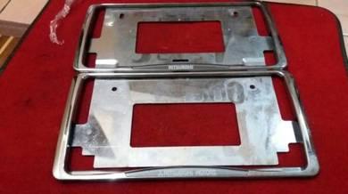 Frame plate mutsubishi krom dari haftcut