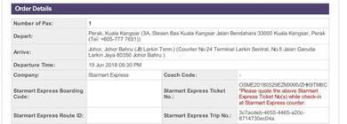 Tiket bas kuala kangsar ke johor bahru