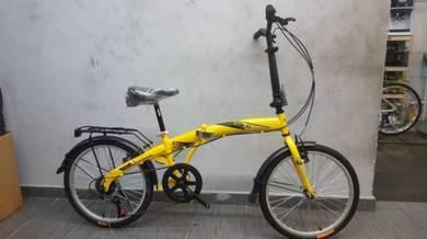 Vogue 20er 6sp ylw Bicycle folding basikal lipat
