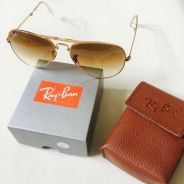 Rayban Aviator Folding Two Tone Original