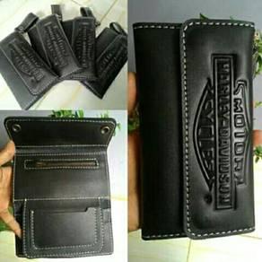 Wallet kulit and sarung tangan kulit