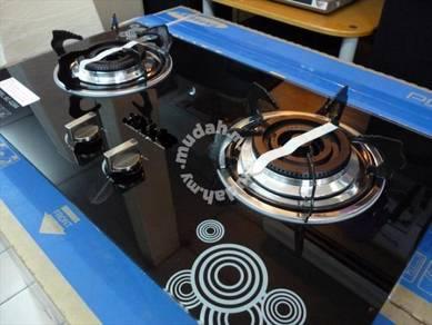 0% GST * New 2 Burner Glass HOB G-268