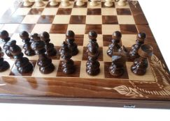 New big wooden chess set backgammon checkers