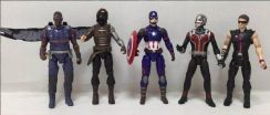 CIVIL WAR CAPTAIN AMERICA 3 Action Figures 5pcs-5A